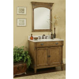 Новый шкаф ванной комнаты твердой древесины конструкции с зеркалом