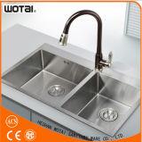 Le corps rond à levier unique de Wotai terminé retirent le robinet de cuisine
