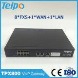 Gateway portuario VoIP del PSTN del asistente 8 autos ATA FXS del soporte de Telepower