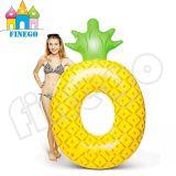 Finego aufblasbare Ananas, Luft-sich hin- und herbewegende Pizza-Schaumgummiring-Ananas-Pool-Gleitbetriebe