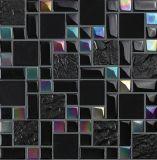 Mosaico de cristal del negro oscuro para la pared de la sala de estar TV (M855005)