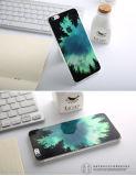 Caso transparente de la parte posterior de la opinión del paisaje del silicón de la manera para el iPhone
