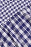 OEM de 2017 el nuevo diseños Abre-Detrás la fábrica de la alineada de las mujeres del algodón de la guinga