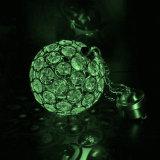 لوّنت يغيّر بلّوريّة شمسيّ يعلّب كرة ضوء خارجيّة