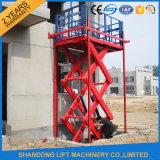 Stationäre bewegliche hydraulische elektrische Scissor Ladung-Aufzug-vertikalen Aufzug