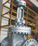 ボルトで固定されたボンネットの鋳造物鋼鉄はゲート弁フランジを付けたようになった