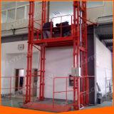 Plataforma material do elevador do armazém vertical hidráulico do trilho de guia para a venda