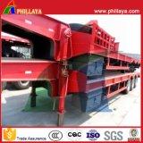 Semi Aanhangwagen van het Bed van de Vrachtwagen van het Dek van de Daling van de tri-as 40-50tons de Lage