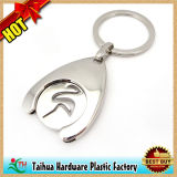 Tourner le trousseau de clés en aluminium en métal de pièce de monnaie (TH-mkc049)