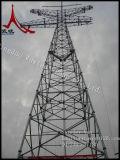 Башня передачи электричества трубчатая и угловая стальная