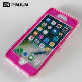 Cubierta completa del teléfono de la carrocería 360 para el brillo líquido del caso del iPhone 7