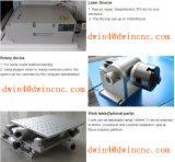 Máquina de aço da marcação do laser da fibra do CNC para o Tag de orelha animal