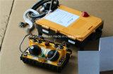 Controlo a distância duplo resistente modelo do guindaste do telecomando do manche F24-60, controlo a distância de rádio industrial F24-60 do guindaste