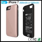 Couverture de remplissage de cas de pouvoir externe rechargeable portatif de pack batterie pour l'iPhone 7 d'Apple 4.7 pouces