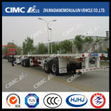 40FT 2axle Flatbed Semi Trailer met Boggie Suspension