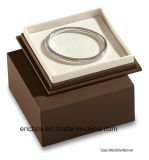Caixa de embalagem de papel luxuosa do presente da jóia da cor do chocolate Jy-Jb135