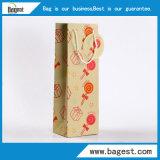 포도주를 위한 다채로운 Recyclabe 포도주 종이 쇼핑 백 선물 부대