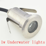 1W White Color IP68 Waterproof Aluminum 12V LEDのデッキLight