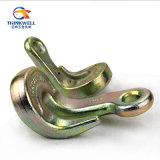 La alta calidad forjó el gancho de leva galvanizado de acero de la curva del gancho agarrador del ojo