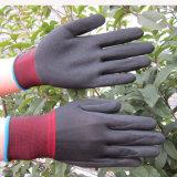 13 Lehren-Nylonhandschuhe unterstützen Sandy-Ende-Nitril-Schichts-Arbeits-Handschuh