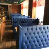 زرقاء جلد زرّ خصّل تصميم مطعم مقصورة ([فوه-رب1])