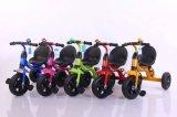 Tricycle de bébé avec la bouteille, tricycle coloré de bébé, tricycle de gosses, conduite sur le vélo