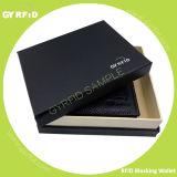 Klem RFID die van het Contante geld van de Portefeuille Leer van het bedrijfs van Mensen de Echte de Houder van de Kaart van de Portefeuille van de Bescherming van de Informatie RFID blokkeren