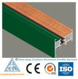 Profil en aluminium des graines en bois pour le guichet en verre avec de bonne qualité