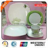 Dinnerware этикеты зеленого цвета