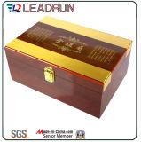 Rectángulo de madera del recuerdo de la caja del regalo del té con la pieza inserta de la espuma de la ampolla de EVA (YL31)
