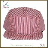 Sombrero llano en blanco de encargo del panel de la raya 5 para los niños