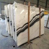 Мрамор мрамора красивейшей панды белый, белых и черных Striped, кристаллический белый мрамор