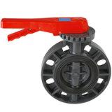 PVC Válvula Borboleta DIN ANSI JIS padrão Nível & Gear Worm
