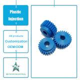 A máquina plástica personalizada das peças de automóvel dos componentes dos produtos parte a modelagem por injeção plástica de roda de engrenagem