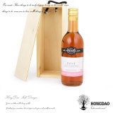 Hongdao passte unfertiges hölzernes Wein-Kasten-Wein-Halter _E an