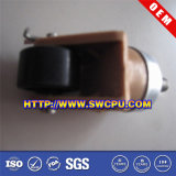 Roda plástica do rodízio do giro de nylon preto (SWCPU-P-W074)