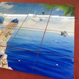 azulejos cristalinos nanos de la pared del fondo moderno del Mar Egeo 3D