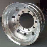 トレーラーかトラクターまたは大型トラックの造られたアルミ合金の車輪の縁のタイヤのタイヤ