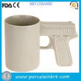 Venta al por mayor de cerámica de la taza del arte fresco de la arma de mano