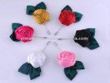 형식 남녀 공통 부속품 인공적인 직물 꽃 브로치 결혼식 코사지 도매