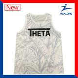 熱い販売の安い中国の工場バスケットボールのジャージーのワイシャツのベストの摩耗