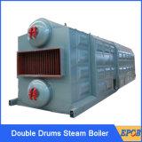 Qualitäts-doppelte Trommel-industrieller 10 Tonnen-Kohle-Dampfkessel