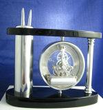 عالة تصميم تجريديّ عال خشبيّ مكتب ساعة
