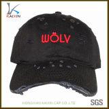 Casquillo no estructurado llano de encargo del sombrero de béisbol del sombrero del papá del bordado