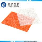 Orange Plastikpolycarbonat geprägtes Diamant-Blatt für Dekoration