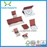 Rectángulo de papel de encargo popular y de la alta calidad superior del anillo con insignia