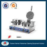 Baker de la gaufre 2-Head pour le matériel chaud de cuisine de vente d'utilisation commerciale dans le système de casse-croûte (HWB-2)