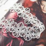 Met de hand gemaakt haak Holle het Ontwerp van het Paleis bloeit uit de Halsband van de Nauwsluitende halsketting Gotisch voor Vrouwen