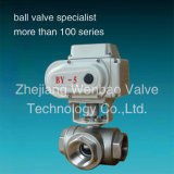 Stainless stalk Electric Actuated Ball faded CF8m 1000wog