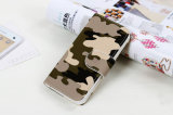 Camuflaje Color Leather Caso para el iPhone 4S